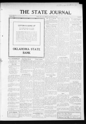 Primary view of object titled 'The State Journal (Mulhall, Okla.), Vol. 13, No. 13, Ed. 1 Friday, February 26, 1915'.