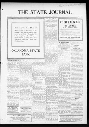 Primary view of object titled 'The State Journal (Mulhall, Okla.), Vol. 13, No. 15, Ed. 1 Friday, March 12, 1915'.
