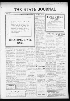 Primary view of object titled 'The State Journal (Mulhall, Okla.), Vol. 13, No. 16, Ed. 1 Friday, March 19, 1915'.