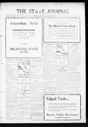 Primary view of object titled 'The State Journal (Mulhall, Okla.), Vol. 14, No. 13, Ed. 1 Friday, February 25, 1916'.