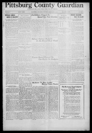 Primary view of object titled 'Pittsburg County Guardian (McAlester, Okla.), Vol. 15, No. 3, Ed. 1 Thursday, September 11, 1919'.