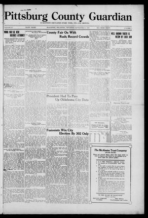 Primary view of Pittsburg County Guardian (McAlester, Okla.), Vol. 15, No. 5, Ed. 1 Thursday, September 25, 1919