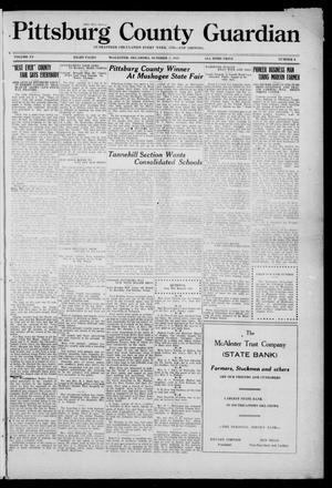 Primary view of object titled 'Pittsburg County Guardian (McAlester, Okla.), Vol. 15, No. 6, Ed. 1 Thursday, October 2, 1919'.