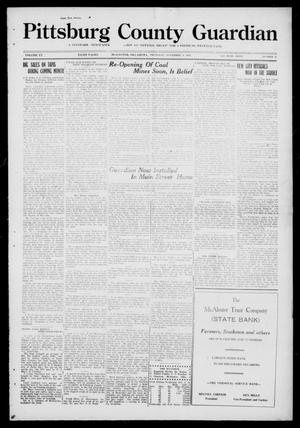 Primary view of object titled 'Pittsburg County Guardian (McAlester, Okla.), Vol. 15, No. 11, Ed. 1 Thursday, November 6, 1919'.