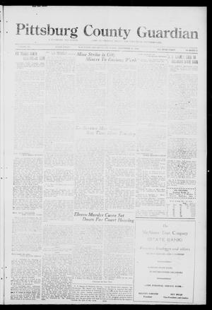 Primary view of object titled 'Pittsburg County Guardian (McAlester, Okla.), Vol. 15, No. 12, Ed. 1 Thursday, November 13, 1919'.