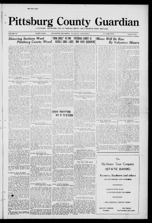 Primary view of object titled 'Pittsburg County Guardian (McAlester, Okla.), Vol. 15, No. 15, Ed. 1 Thursday, December 4, 1919'.
