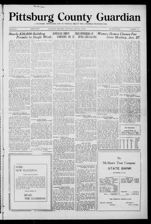 Primary view of object titled 'Pittsburg County Guardian (McAlester, Okla.), Vol. 15, No. 22, Ed. 1 Thursday, January 22, 1920'.