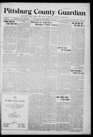 Primary view of object titled 'Pittsburg County Guardian (McAlester, Okla.), Vol. 15, No. 49, Ed. 1 Thursday, July 29, 1920'.