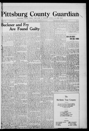 Primary view of object titled 'Pittsburg County Guardian (McAlester, Okla.), Vol. 16, No. 22, Ed. 1 Thursday, January 20, 1921'.