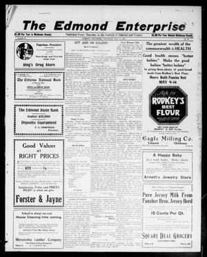 Primary view of object titled 'The Edmond Enterprise (Edmond, Okla.), Vol. 21, No. 15, Ed. 1 Thursday, May 12, 1921'.