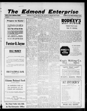 Primary view of object titled 'The Edmond Enterprise (Edmond, Okla.), Vol. 22, No. 11, Ed. 1 Thursday, April 13, 1922'.