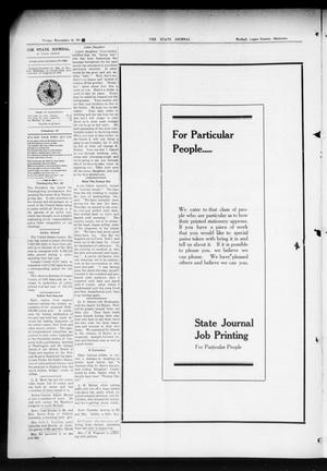 Primary view of object titled 'The State Journal (Mulhall, Okla.), Vol. 12, No. 49, Ed. 1 Friday, November 6, 1914'.