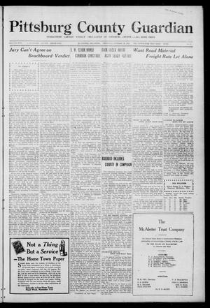 Primary view of object titled 'Pittsburg County Guardian (McAlester, Okla.), Vol. 17, No. 9, Ed. 1 Thursday, October 20, 1921'.