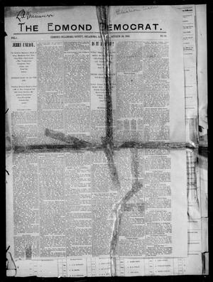 Primary view of object titled 'The Edmond Democrat. (Edmond, Okla.), Vol. 1, No. 10, Ed. 1 Saturday, October 29, 1892'.
