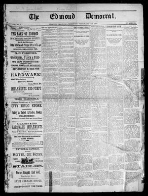 Primary view of The Edmond Democrat. (Edmond, Okla. Terr.), Vol. 3, No. 15, Ed. 1 Friday, July 21, 1893