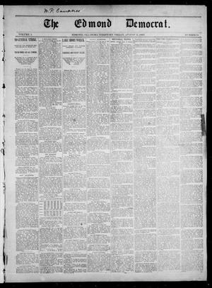Primary view of object titled 'The Edmond Democrat. (Edmond, Okla. Terr.), Vol. 3, No. 18, Ed. 1 Friday, August 11, 1893'.