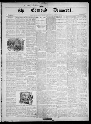 Primary view of object titled 'The Edmond Democrat. (Edmond, Okla. Terr.), Vol. 3, No. 19, Ed. 1 Friday, August 18, 1893'.