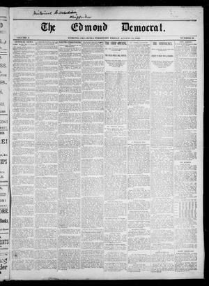 Primary view of object titled 'The Edmond Democrat. (Edmond, Okla. Terr.), Vol. 3, No. 20, Ed. 1 Friday, August 25, 1893'.