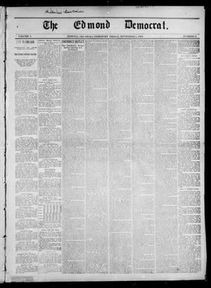 Primary view of object titled 'The Edmond Democrat. (Edmond, Okla. Terr.), Vol. 3, No. 21, Ed. 1 Friday, September 1, 1893'.