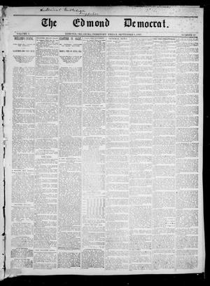 Primary view of object titled 'The Edmond Democrat. (Edmond, Okla. Terr.), Vol. 3, No. 22, Ed. 2 Friday, September 8, 1893'.