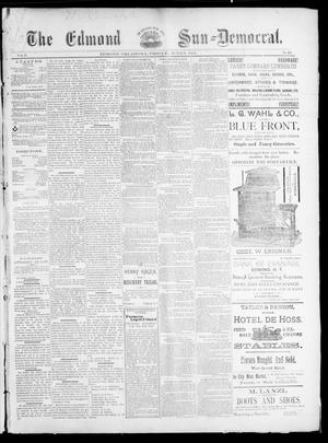 Primary view of object titled 'The Edmond Sun--Democrat. (Edmond, Okla.), Vol. 5, No. 48, Ed. 1 Friday, June 8, 1894'.
