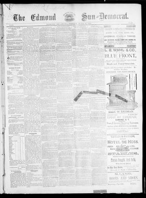 Primary view of object titled 'The Edmond Sun--Democrat. (Edmond, Okla.), Vol. 5, No. 49, Ed. 1 Friday, June 15, 1894'.