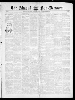 Primary view of object titled 'The Edmond Sun--Democrat. (Edmond, Okla. Terr.), Vol. 6, No. 11, Ed. 1 Friday, September 21, 1894'.