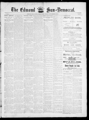Primary view of object titled 'The Edmond Sun--Democrat. (Edmond, Okla. Terr.), Vol. 6, No. 17, Ed. 1 Friday, November 2, 1894'.