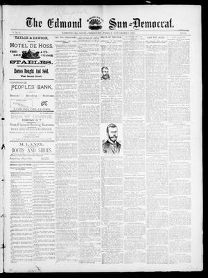 Primary view of object titled 'The Edmond Sun--Democrat. (Edmond, Okla. Terr.), Vol. 6, No. 18, Ed. 1 Friday, November 9, 1894'.