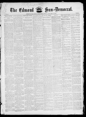 Primary view of object titled 'The Edmond Sun--Democrat. (Edmond, Okla. Terr.), Vol. 6, No. 29, Ed. 1 Friday, January 25, 1895'.