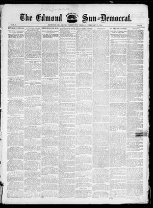 Primary view of object titled 'The Edmond Sun--Democrat. (Edmond, Okla. Terr.), Vol. 6, No. 30, Ed. 1 Friday, February 1, 1895'.