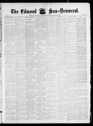 Primary view of object titled 'The Edmond Sun--Democrat. (Edmond, Okla. Terr.), Vol. 6, No. 34, Ed. 1 Friday, March 1, 1895'.