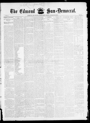 Primary view of object titled 'The Edmond Sun--Democrat. (Edmond, Okla. Terr.), Vol. 6, No. 38, Ed. 1 Friday, March 29, 1895'.