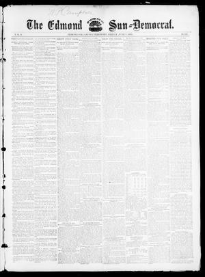 Primary view of object titled 'The Edmond Sun--Democrat. (Edmond, Okla. Terr.), Vol. 6, No. 48, Ed. 1 Friday, June 7, 1895'.