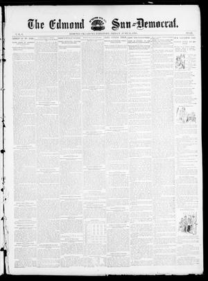 Primary view of object titled 'The Edmond Sun--Democrat. (Edmond, Okla. Terr.), Vol. 6, No. 49, Ed. 1 Friday, June 14, 1895'.