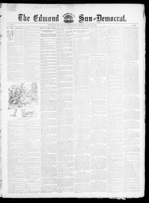 Primary view of object titled 'The Edmond Sun--Democrat. (Edmond, Okla. Terr.), Vol. 7, No. 1, Ed. 1 Friday, July 12, 1895'.