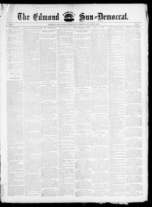 Primary view of object titled 'The Edmond Sun--Democrat. (Edmond, Okla. Terr.), Vol. 7, No. 5, Ed. 1 Friday, August 9, 1895'.