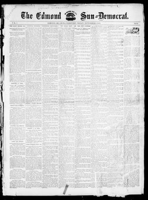 Primary view of object titled 'The Edmond Sun--Democrat. (Edmond, Okla. Terr.), Vol. 7, No. 9, Ed. 1 Friday, September 6, 1895'.