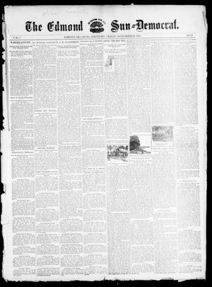 Primary view of object titled 'The Edmond Sun--Democrat. (Edmond, Okla. Terr.), Vol. 7, No. 11, Ed. 1 Friday, September 20, 1895'.