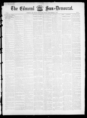 Primary view of object titled 'The Edmond Sun--Democrat. (Edmond, Okla. Terr.), Vol. 7, No. 12, Ed. 1 Friday, September 27, 1895'.