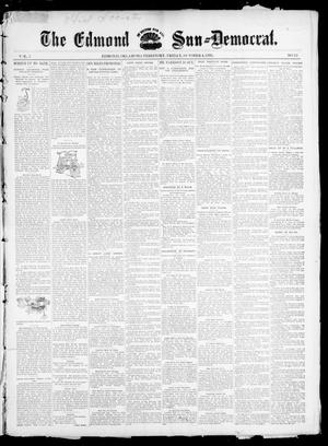 Primary view of object titled 'The Edmond Sun--Democrat. (Edmond, Okla. Terr.), Vol. 7, No. 13, Ed. 1 Friday, October 4, 1895'.