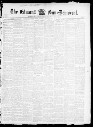 Primary view of object titled 'The Edmond Sun--Democrat. (Edmond, Okla. Terr.), Vol. 7, No. 15, Ed. 1 Friday, October 18, 1895'.