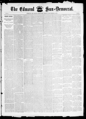 Primary view of object titled 'The Edmond Sun--Democrat. (Edmond, Okla. Terr.), Vol. 7, No. 23, Ed. 1 Friday, December 13, 1895'.
