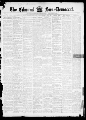 Primary view of object titled 'The Edmond Sun--Democrat. (Edmond, Okla. Terr.), Vol. 7, No. 25, Ed. 1 Friday, December 27, 1895'.