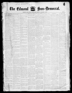 Primary view of object titled 'The Edmond Sun--Democrat. (Edmond, Okla. Terr.), Vol. 7, No. 26, Ed. 1 Friday, January 3, 1896'.