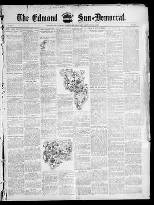Primary view of object titled 'The Edmond Sun--Democrat. (Edmond, Okla. Terr.), Vol. 7, No. 27, Ed. 1 Friday, January 10, 1896'.