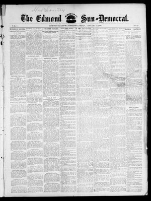 Primary view of object titled 'The Edmond Sun--Democrat. (Edmond, Okla. Terr.), Vol. 7, No. 29, Ed. 1 Friday, January 24, 1896'.
