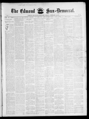 Primary view of object titled 'The Edmond Sun--Democrat. (Edmond, Okla. Terr.), Vol. 7, No. 33, Ed. 1 Friday, February 21, 1896'.