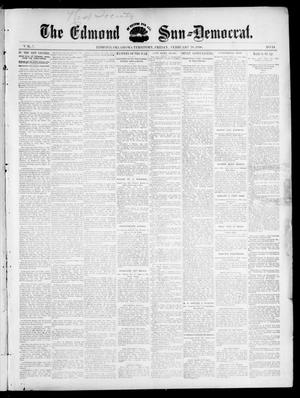 Primary view of object titled 'The Edmond Sun--Democrat. (Edmond, Okla. Terr.), Vol. 7, No. 34, Ed. 1 Friday, February 28, 1896'.