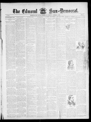 Primary view of object titled 'The Edmond Sun--Democrat. (Edmond, Okla. Terr.), Vol. 7, No. 41, Ed. 1 Friday, April 17, 1896'.